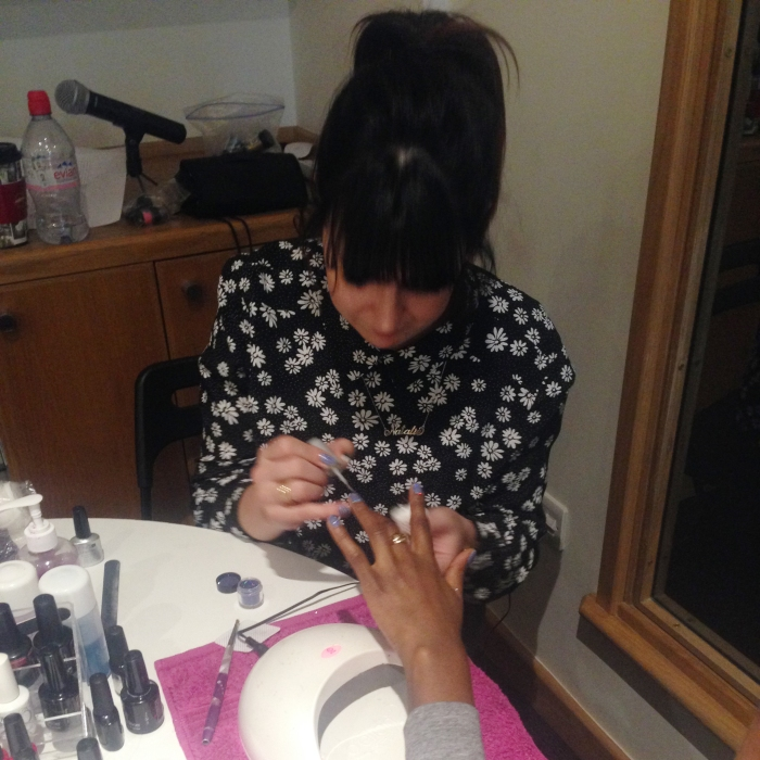 nails by natalie rose london mobile nail technician adam&eveDDB office work christmas party manicures