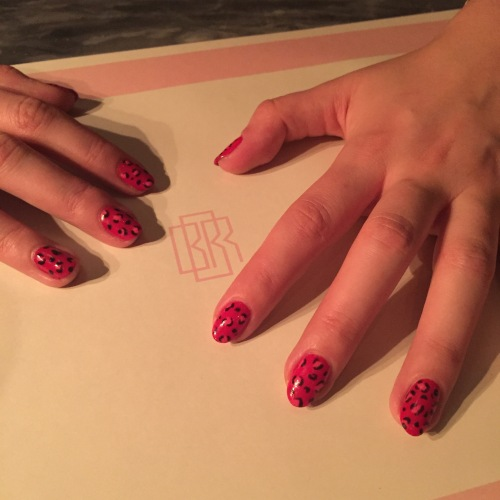 nails by natalie rose london mobile nail technician leopard print manicure bob bob ricard soho