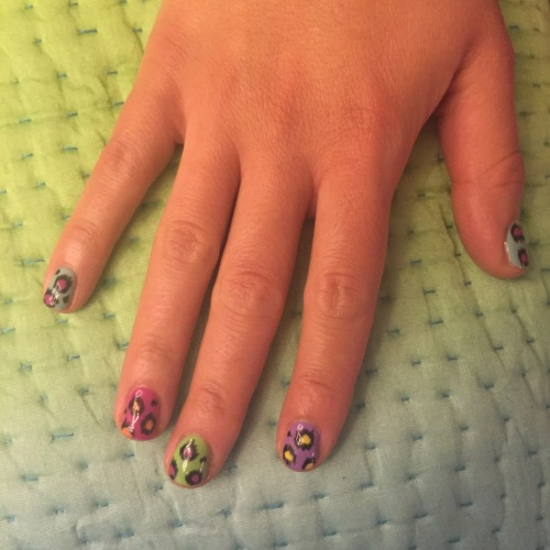 nails by natalie rose london mobile nail art technician manicure pedicure leopard print westbourne park