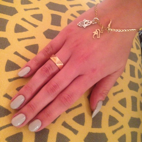 nails by natalie rose london mobile nail technician grey gelish manicure