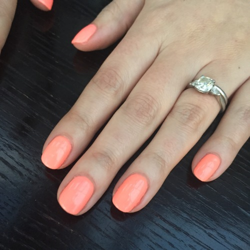 nails by natalie rose london mobile nail technician manicure orange by gelish 'I'm brighter than you