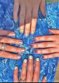 Summer combo nails
