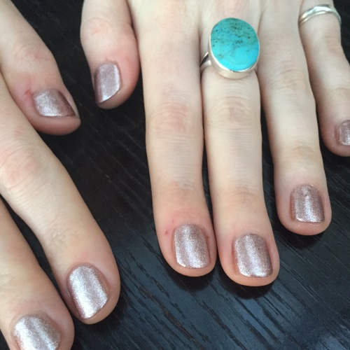 nails by natalie rose london mobile nail technician manicure rose gold by Artistic Goddess