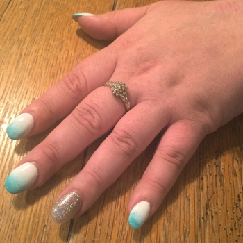 nails by natalie rose london mobile nail technician manicure pedicure rub me the sarong way gelish turquoise ombre