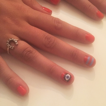nails by natalie rose london mobile nail technician manicure pedicure evil eye