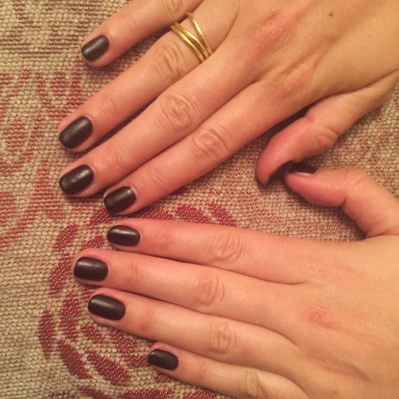 nails by natalie rose london mobile nail technician manicure pedicure artistic intoxicate' with a matte finish