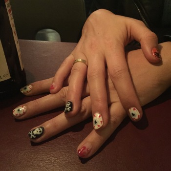 nails by natalie rose london mobile nail technician manicure pedicure halloween