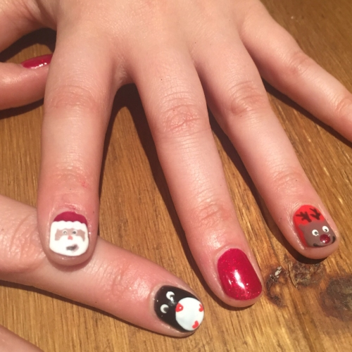 nails by natalie rose london mobile nail technician manicure pedicure christmas nail art