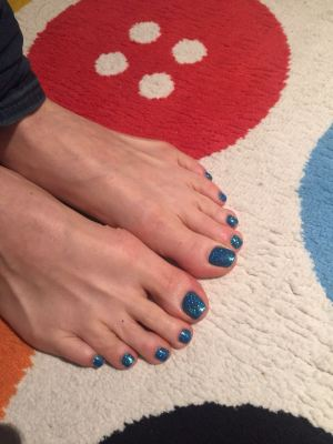 nails by natalie rose london mobile nail technician manicure pedicure Sparkley Blue Toes