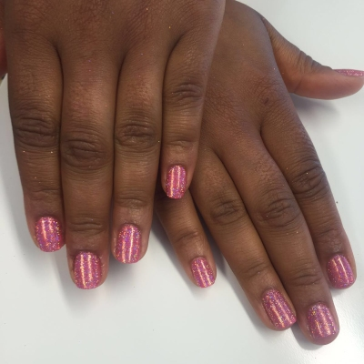 nails by natalie rose london mobile nail technician manicure pedicure glitter pink sparkles!