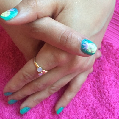 nails by natalie rose london mobile nail technician glasto pineapple nails