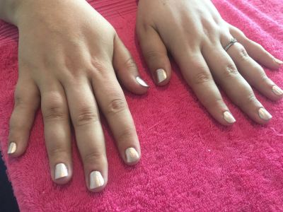 nails by natalie rose london mobile nail technician manicure rose gold