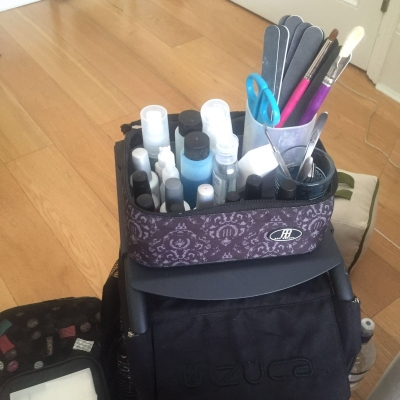 nails by natalie rose london mobile nail technician manicure pedicure setup