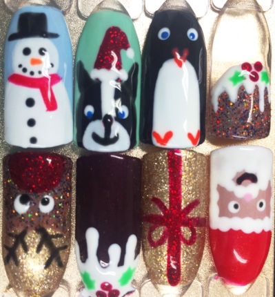 nails by natalie rose london mobile nail technician christmas manicure