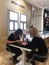 Astley Clarke at Christmas nails by natalie rose