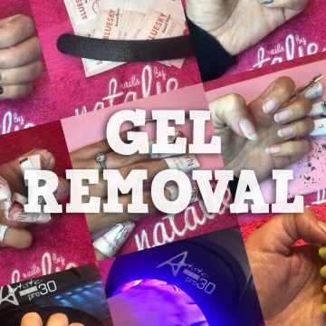 nails by natalie rose london Gel manicure removal montage!