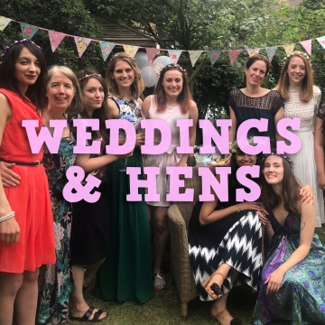Hens and Wedding nails by natalie rose london mobile manicures
