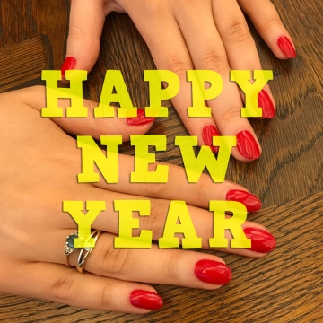 Happy new year nails by natalie rose mobile nail manicure