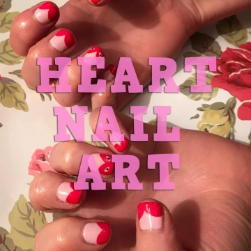 Heart Nail Art nails by natalie rose london mobile manicures and pedicures