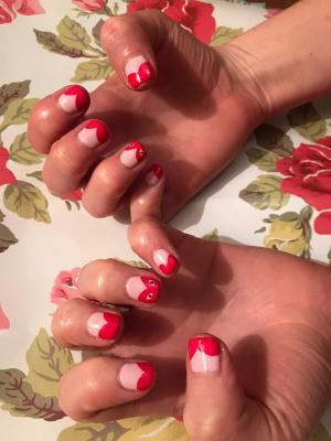 Commes des garçon nail art nails by natalie rose london mobile manicures and pedicures