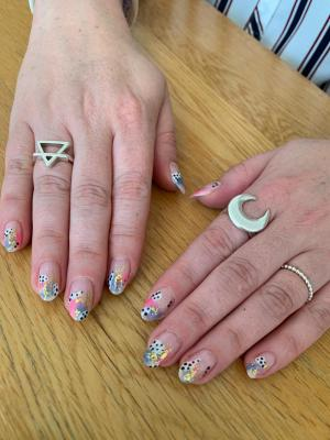 Nails by natalie rose mobile manicures london Abstract pastels, found on the Bloody Mary metal jewellery insta Page