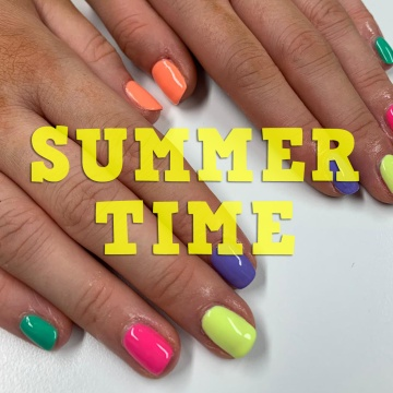 Nails by natalie rose mobile manicures london Summer Time