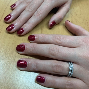 nails by natalie rose london mobile manicures red glitter christmas