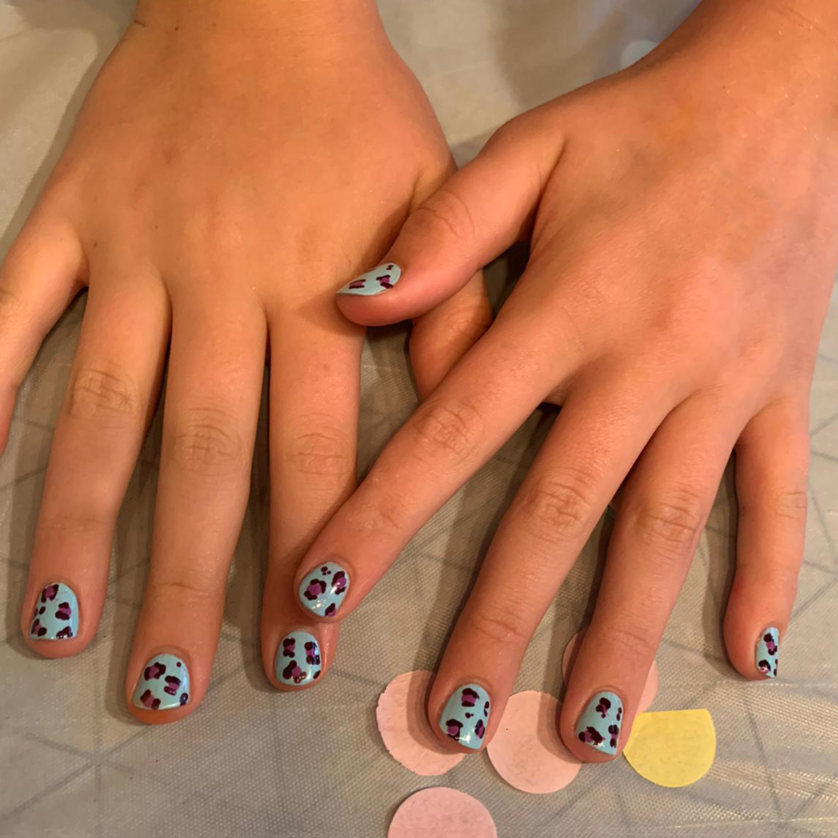 nails by natalie rose mobile manicure london Nail Party Leopard Print