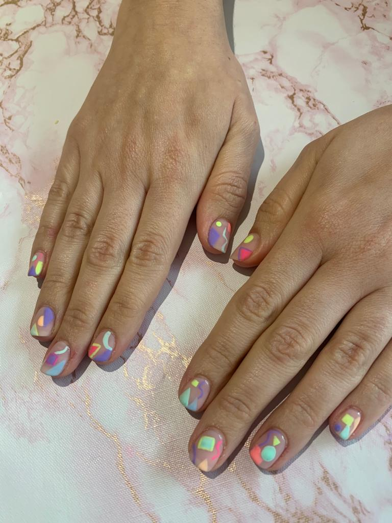nails by natalie rose london mobile manicure autum vibes Saved by the Bell 80s Nail Art