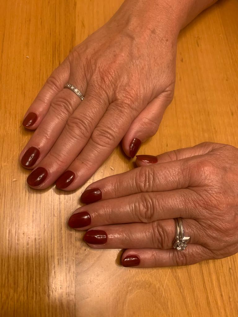 nails by natalie rose london mobile manicure autum vibes Arabian Nights