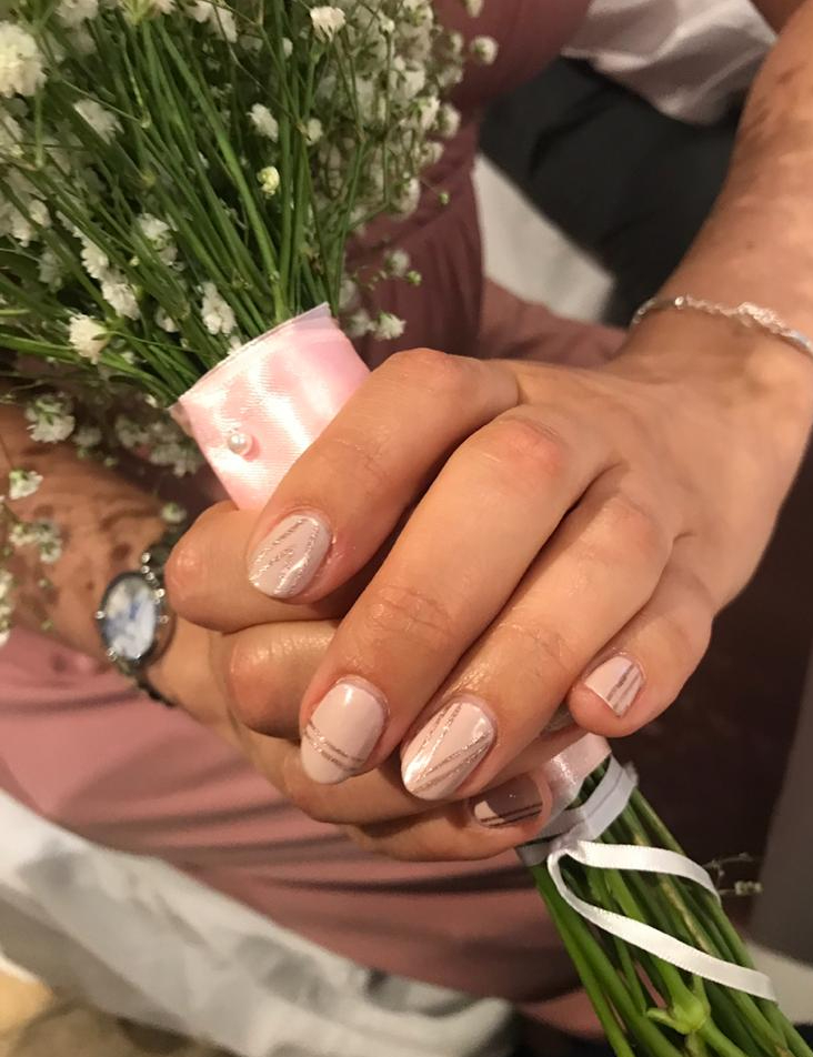 Nude Nail Art Wedding Nails