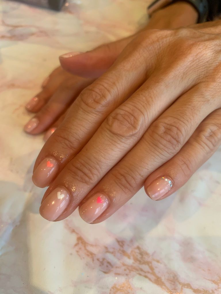 Little Heart Nail Art nails by natalie rose london mobile manicures and pedicures