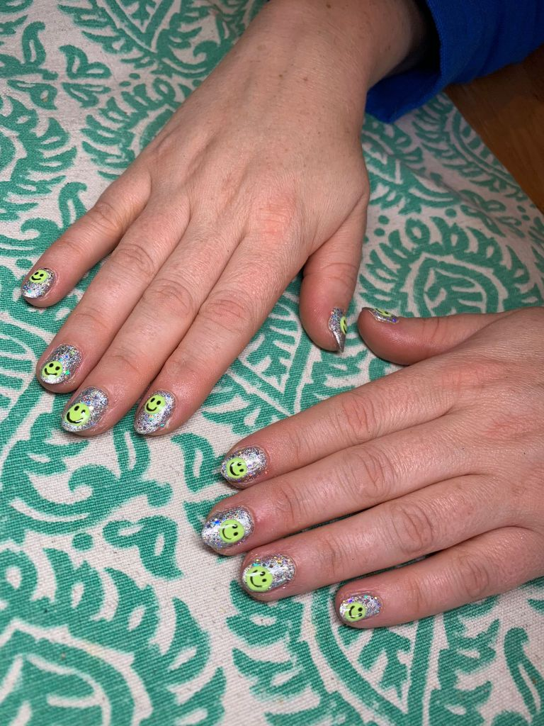 Smiley Nail Art nails by natalie rose london mobile manicures and pedicures